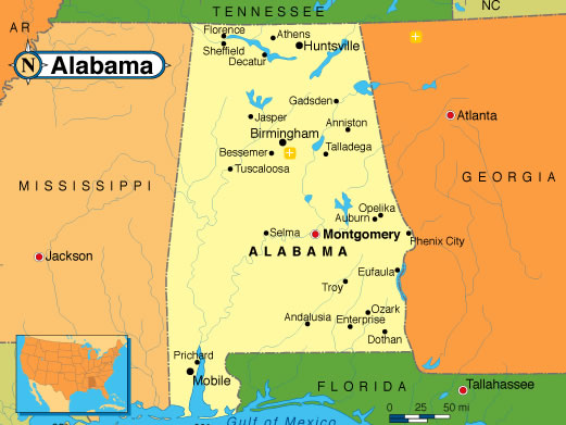 About Alabama Air Airlube Compressors And Compressed Air Equipment - Map of alabama and florida